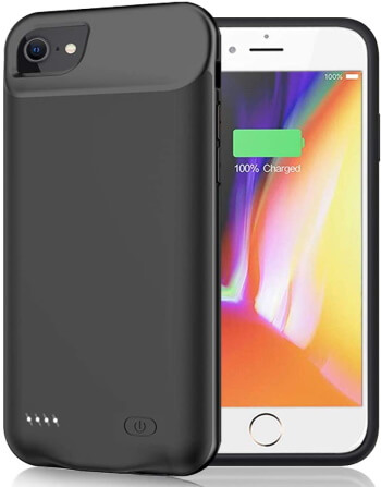 JERSS 6000mAh Premium Battery Case for iPhone SE 2020