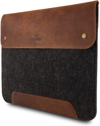 MegaGear Genuine Leather Case for 16-inch MacBook Pro