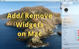 Remove or Add Widget on Mac and MacBook