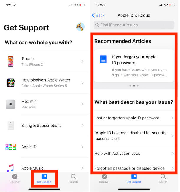Get Support for Apple Products and Services