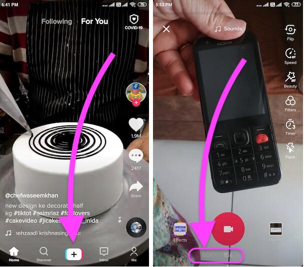 Tiktok app on android mobile