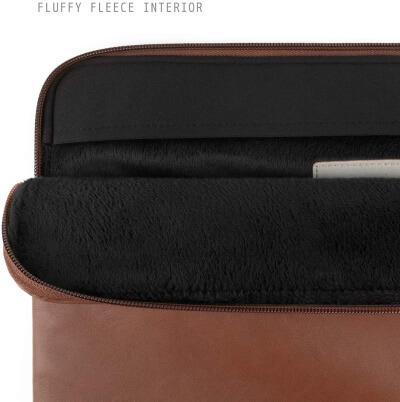 Comfyable Leather Laptop Sleeve