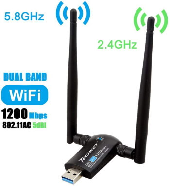 Dual Antennas Wireless USB Adapter