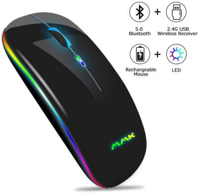 Rechargeable Mouse with LED Light by MMK