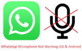WhatsApp Microphone Not Working iOS and android