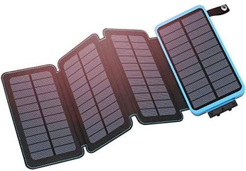 25000mAh Hiluckey Solar Power Bank for iPhone, iPad