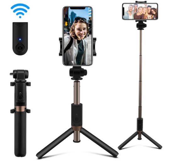 AFAITH Bluetooth Selfie Stick for iPhone