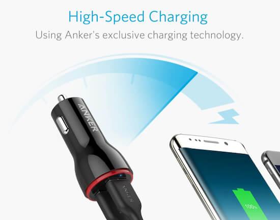 Автомобильное зарядное устройство Anker Dual USB для iPhone SE 2 - модель 2020 г.