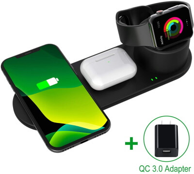 Aresh Wireless Charger Stand Compatible with Apple Watch Charger