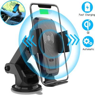 Беспроводное автомобильное зарядное устройство Iotton с автоматическим зажимом