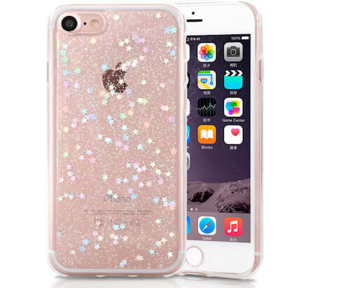 Luxury Protective iPhone SE 2020 Clear Case for Girls