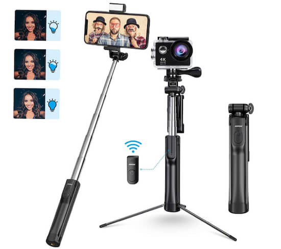 Mpow Selfie Stick With Tripod For iPhone SE 2020