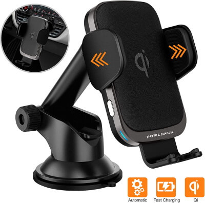 Smart Automatic Car Phone Mount with Wireless Charger