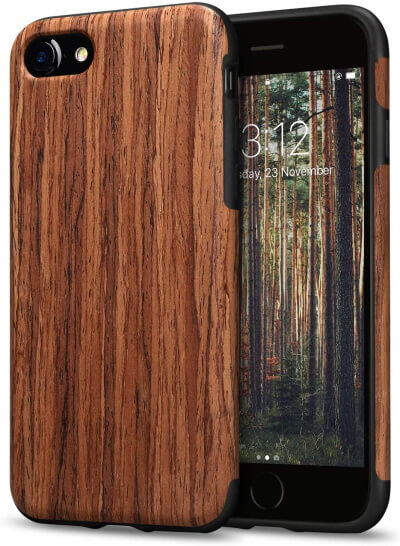 TENDLIN Wood Case for iPhone SE 2020