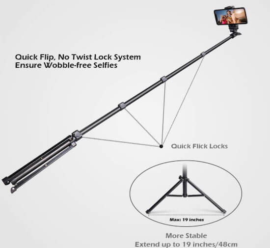 UBeesize Selfie Stick For iPhone