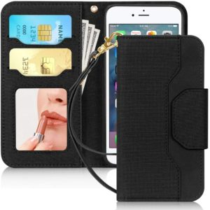 best Skycase iPhone SE 2 wallet Case 4.7inch with mirror and card holder case