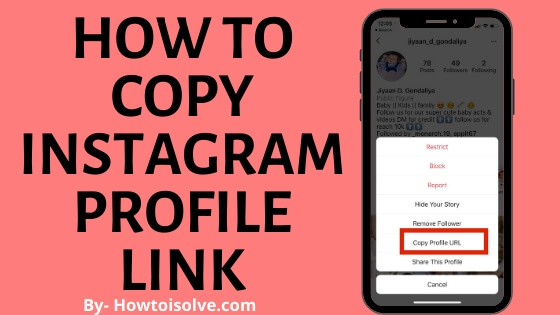 How to Copy Instagram Profile Link iPhone