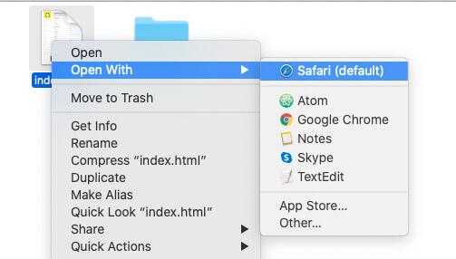 Open index.html on Desktop or Mac Browser