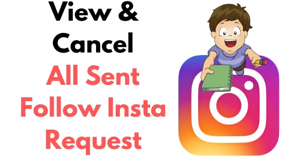 View & Cancel All Sent Follow Insta Request