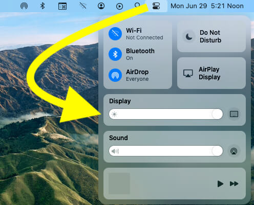 Control Center in MacOS Big Sur