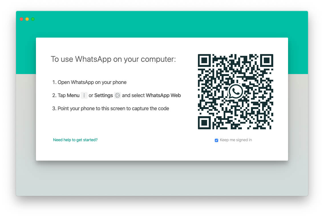 Login Your WhatsApp using your iPhone WhatsApp app settings