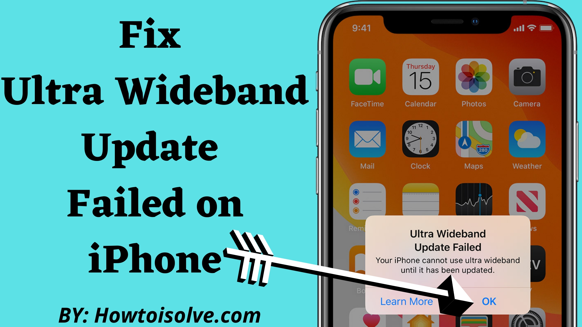 Ultra Wideband Update Failed on iPhone How to Fix