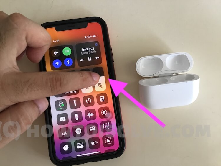 Change Airpods Volume from control center on iPhone or iPad