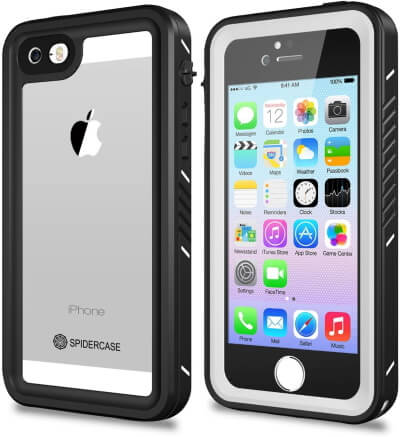 IP68 Certificated Underwater Waterproof iPhone 5 5s SE Case by Spider Case