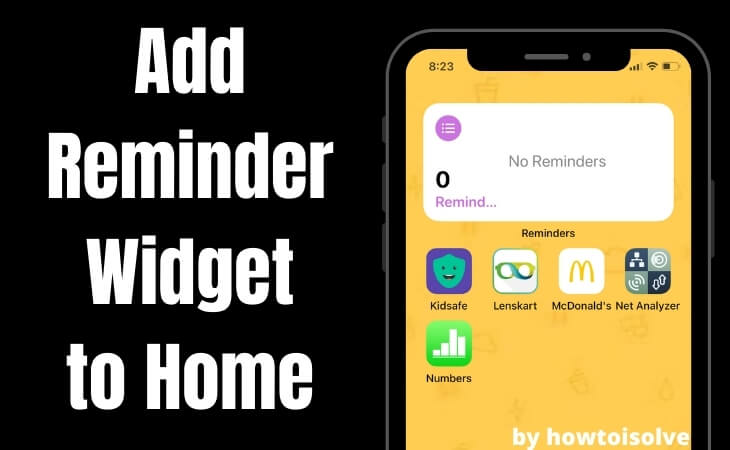Add Reminder Widget to Home screen on iPhone (1)