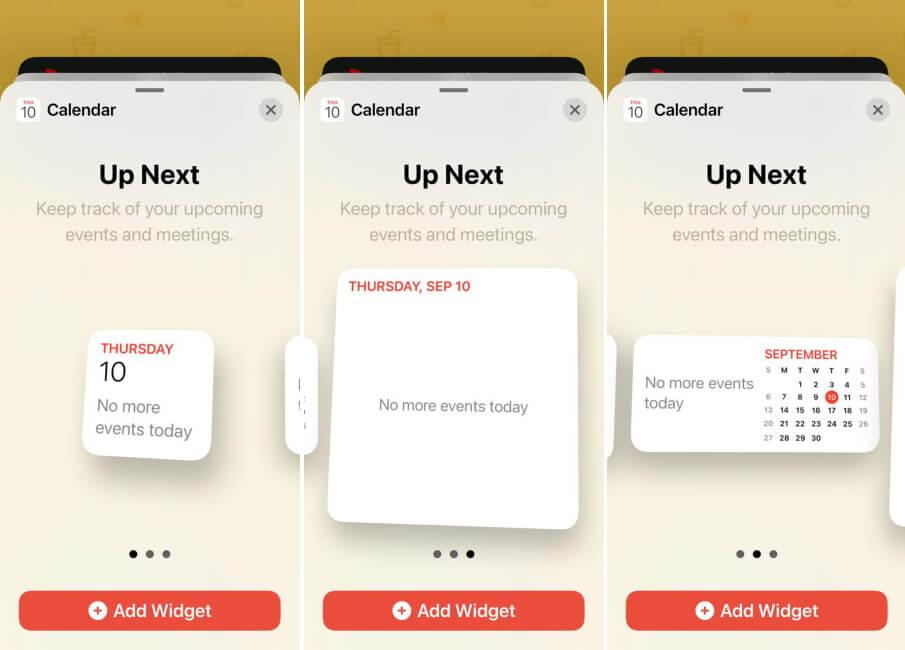 Choose from Different Calendar Widget Styles