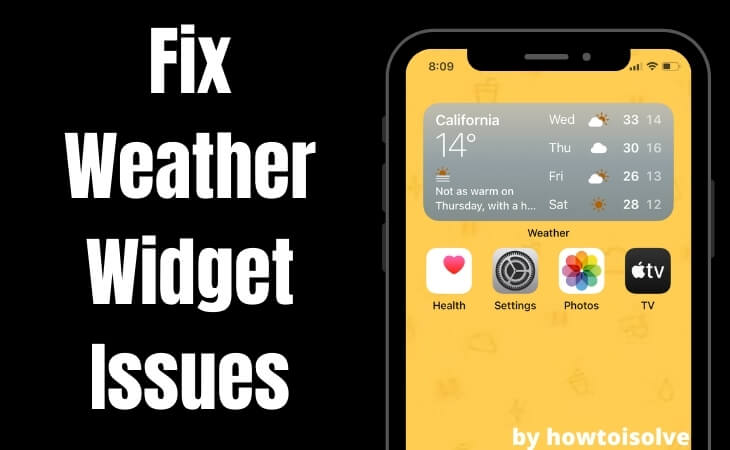 Fix Weather Widget Issues on iPhone Home screen
