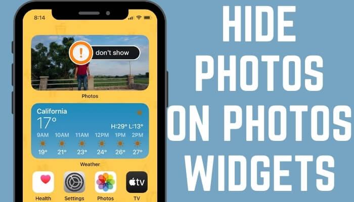 Hide Photos Widget Widgets on iPhone home screen