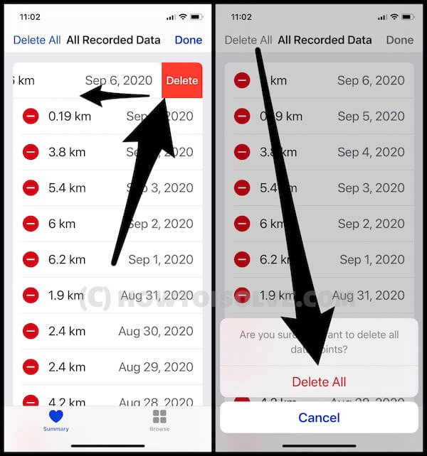 How to Delete Data from Health App on iphone