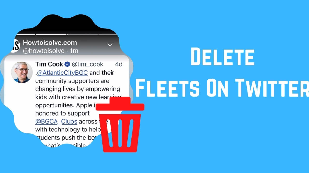 Delete Fleets On Twitter iPhone iPad or android (1)