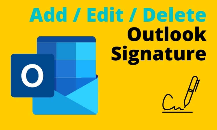 Add _ Edit _ Delete Outlook Signature on any device