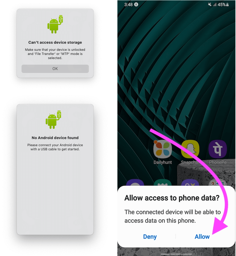 Allow to Access all the Files and Data on Mac Using Android File Transfer