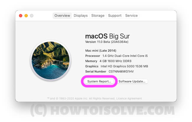 Get the System Information on Mac or Macbook