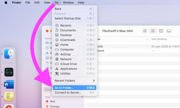Перейти в Finder на Mac