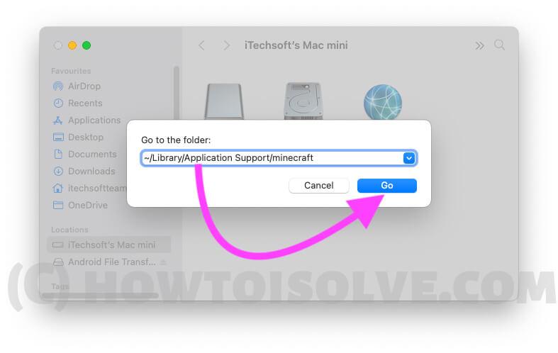 Скриншот MInecraft и расположение данных на Mac
