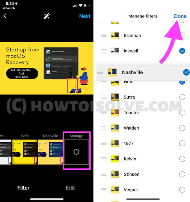 Apply and Customize More filters on instagram App iPhone and Android