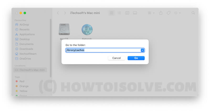 Delete Caches files and Folders from Mac