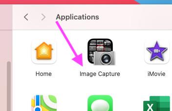 Захват изображений на Mac