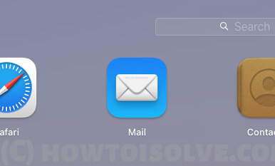 Open Mail app on Mac