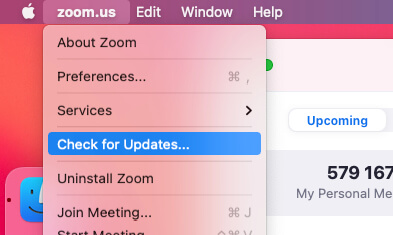 Update zoom app on Mac