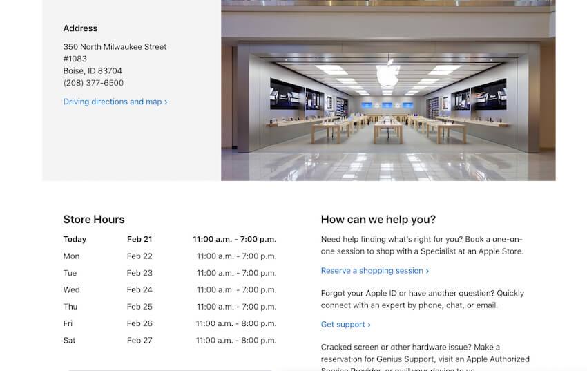 Подробная информация о сервисном центре Apple