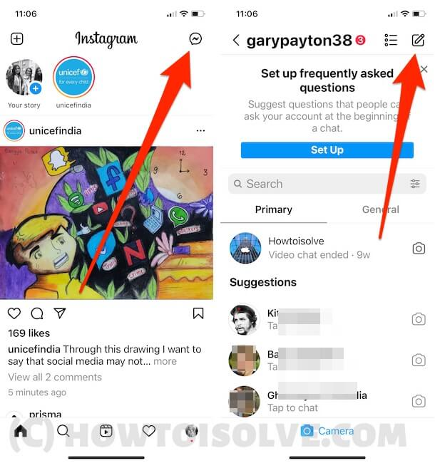 Send DM to instagram app to Clubhouse User