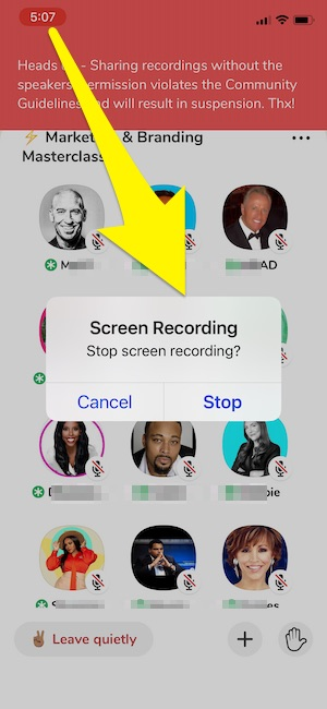 Stop Clubhouse Audio Recording on Phone