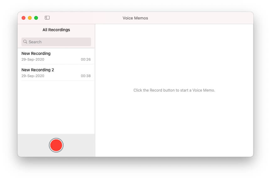 Голосовые заметки на Mac