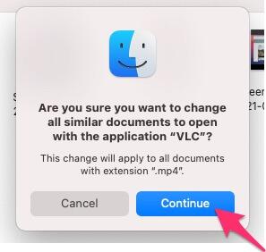 Продолжить открывать видеофайл на Mac VLC
